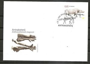 SLOVENIA 2019,FOSSIL MAMMALS OF SLOVENIA-ANTHRACOTHERE,FDC