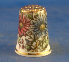 Birchcroft Thimble -- Gold Top Vintage Daisies -- Free Gift Box