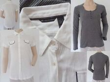 MNG Mango 2er Set Girls Polo Shirt weiss & Shirt Langarm gestreift Gr M Top