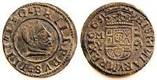 Spain-Felipe IV. 16 Maravedis. 1663. Madrid. EBC/XF. Cobre 4,1g.