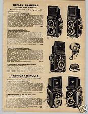 1958 PAPER AD Camera Yashica Minolta Reflex Rollei Argus Kodak Autocord Automat