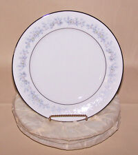 NORITAKE CHINA Marywood 2181 (4) Bread & Butter Plates  band of blue flowers