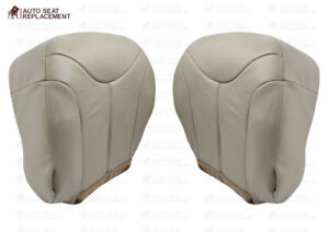 2000 2001 2002 GMC Yukon XL Driver and Passenger Bottom Leather Seat Cover Tan