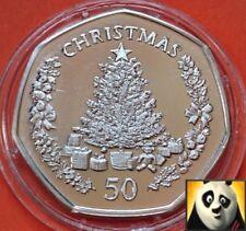 2006 SCARCE GIBRALTAR 50p Silver Proof Fifty Pence Coin Christmas Three + COA