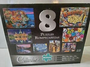 BUFFALO JIGSAW PUZZLES 7 IN 1 COLLECTORS EDITION SEALED 500-1000 Pieces
