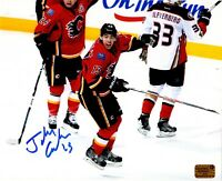 Johnny Gadreau autographed signed Calgary Flames 8x10 photo