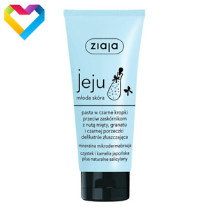 Ziaja Jeju Black Peeling Paste For Imperfections Acne Prone Skin 75ml  Z00601