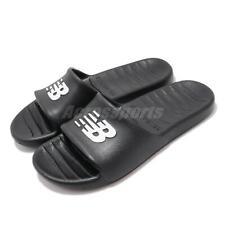 New Balance 100 черный белый с логотипом мужские женские унисекс сандалии слайды SUF100BK D