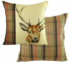"""EVANS LICHFIELD HUNTER HIGHLAND STAG DEER HAND PAINTED ANIMALS CUSHION COVER 17"""""""