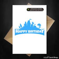 Funny Fortnite Birthday Card - Achievement Unlocked! Fortnight son xbox gamer