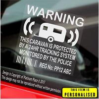 4 x Caravan Security Stickers-GPS Tracker Device Warning Signs-Mobile-Caravaners