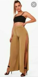 Boohoo Plus Slinky Sit Wide Leg Trouser Size 16 New With Tags