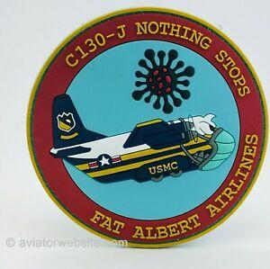 """BLUE ANGELS """"FAT ALBERT AIRLINES"""" C130-J VIRUS PVC PATCH - USMC"""