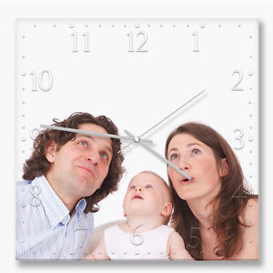 Personalized Gift!!! Custom printed 30cm square wall clock with your own photo
