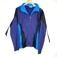 Vtg 90's Reebok ColorBlock Windbreaker Jacket Men Size L Full Zip With Hood