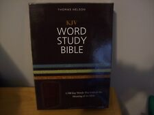 KJV, Word Study Bible, Imitation Leather, Brown, Red Letter Edition : 1,700...