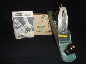 "Vintage SEARS CRAFTSMAN 14"" Jack Plane 37065 2"" Cutter HAND WOOD PLANE USA w/Box"