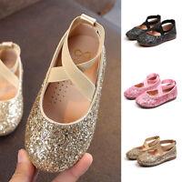 Toddler Baby Kid Girl Sequins Glitter Crib Shoes Soft Sole Prewalker Ballerina