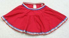 """Child Medium Red White Blue Halloween Costume Cheerleading Skirt 20"""" x 11"""" O29"""