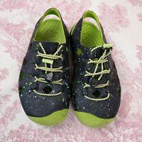 Keen Youth Rubber Sandals Water Sport Shoes Kids Size U.S 1 Blue Green Splatter
