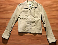 Live A Little Light Green Suede Jacket Womens Size Small Rn 63963