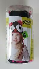 Caron Critters Black Pink And White Owl Hat Knit And Crochet Kit Nip Free S&H!