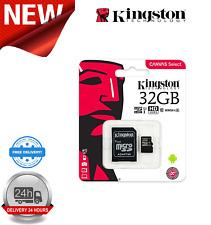 32GB MicroSDHC Tarjeta de memoria Kingston De Lona seleccionar UHS-I U1 clase 10 Adaptador Inc.