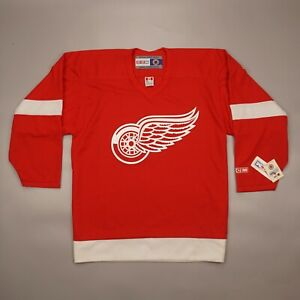 NEW with TAGS Vintage Detroit Red Wings CCM NHL Hockey Jersey Shirt Size L