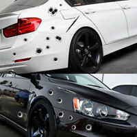 3D Realistic Bullet Hole Car Sticker Simulation Scratch Funny Decal Waterproof