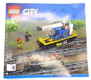 Lego® Eisenbahn Zug Kran Wagen und Holz Waggon - 60198 - inkl Bauanleitung