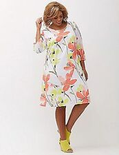 LANE BRYANT PLUS SIZE PRINTED FLORAL SHIFT DRESS 18/20