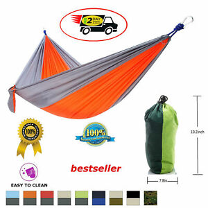 Two Person Outdoor Camping Parachute Nylon Hammock