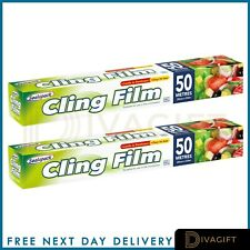 CLING FILM CATERING SIZE KEEP FOOD FRESH PLASTIC WRAP KITCHEN 300mm x 50m
