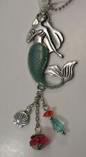 zzV Magical Mermaid strength courage strong Lucky Charm Car Mirror Ornament