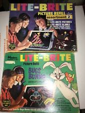 1968 Lite Brite refill kit and some new sheets Bugs Bunny