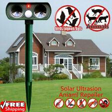 Solar Ultrasonic Garden Deterrent Repeller Animal Dog Bird Rat Cat Scarer Pest T
