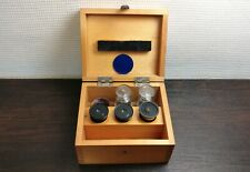 Vintage Objectives For Microscope Lens Lomo Wooden Box Ussr Soviet A