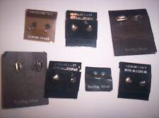 NWT HUGE Lot of 7 Pairs .925 Sterling Silver Earings - On Original Card Holders