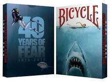 40 YEARS OF FEAR JAWS BICYCLE DECK PLAYING CARDS CROOKED KINGS POKER MAGIC TRICK