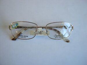 NEW Sophia Loren Beau Rivage BR78 78 gold eyeglass frames eye glasses