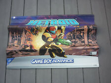 Metroid Zero Mission Game Boy Advance Display Banner Samus Ridley Rare 26x32 HTF