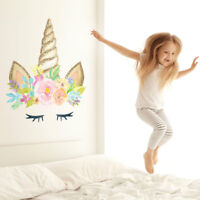 Unicorn horn wall sticker | Size and style options available | Girls room decor