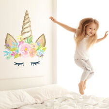 Unicorn horn wall sticker   Size and style options available   Girls room decor