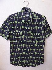VINTAGE 90'S - VERSACE JEANS COUTURE PALM TREE MUSCLE  SHIRT - FITS LIKE MEDIUM