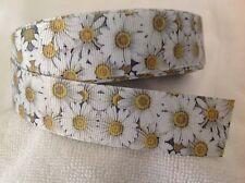 25mm  Flowers Grosgrain  Ribbon  3 Meters Length  HairBows Craft Scrapbook