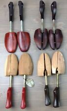 Shoe Trees Mens Florsheim Wooden Shoe Keepers Stretchers Adjustable - 4 Pairs
