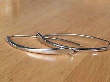 Silver Tone Dangle Drop Pierced Threader Hook Earrings Women Fashion Jewelry