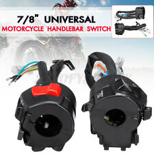 "2PCS Universal Motorcycle 7/8"" Handlebar Switch Horn Turn Signal Start Controls"
