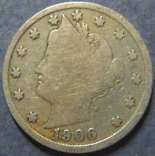 >1906 LIBERTY HEAD NICKEL >U.S.1906 LIBERTY HEAD TYPE V NICKEL, Very Fine Coin#5