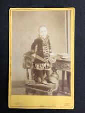 Victorian Cabinet Card: Child: Banks: Manchester: Standing On Chair